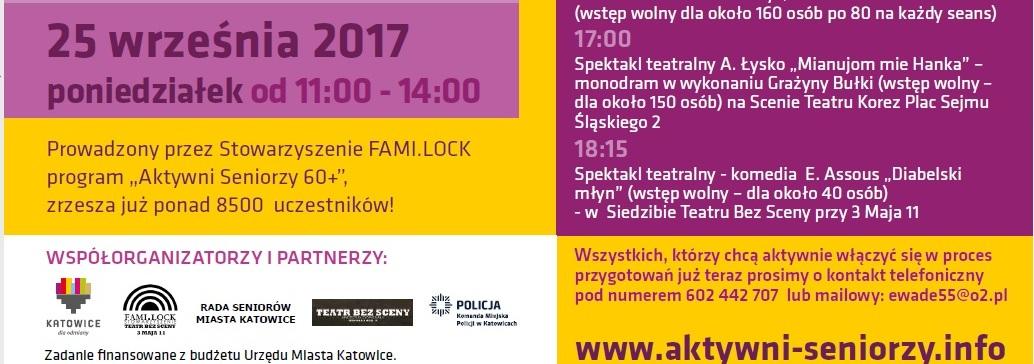 Zaproszenie Na 3 Katowicki Dzień Aktywnego Seniora Uniwersytet